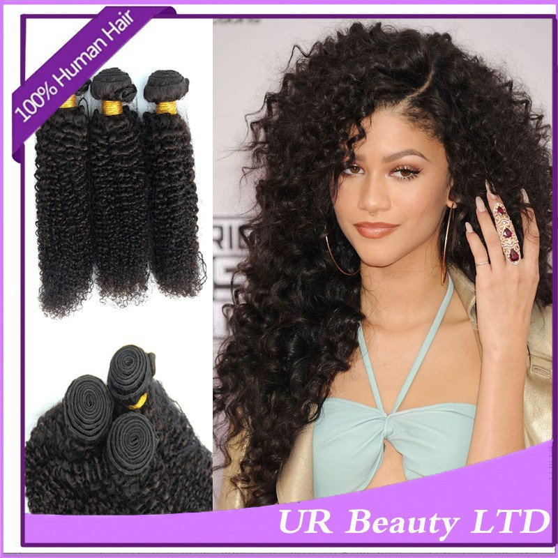 Curly Permed Hair 7a Kinky Curly 3pcs Lot Hair Weaves Styling