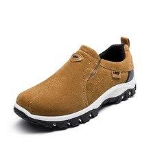 Brown Running Shoes Men Shoes Men Sneakers 2019 Spring New Suede Lace Up Mens Shoes Lazy Shoes Man Zapatos De Hombre Size 39-44 цена в Москве и Питере