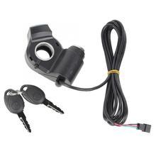 Электрический велосипед с накатанной головкой дроссельная заслонка Мощность Дисплей для е-байка пальца дроссельной заслонки электрический мотоцикл электрический велосипед Запчасти
