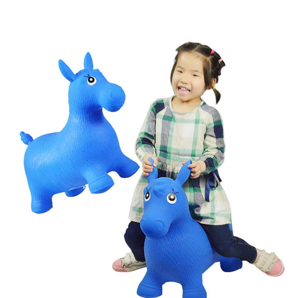 Brinquedo Cavalo de Salto Inflável Do Bebê Guarda comum Não Pintar Nenhuma Música Super Cavalo De Borracha de Segurança de Proteção Ambiental