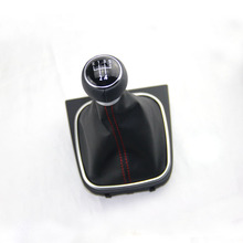 OEM Leather Red Stitch Manual Transmission MT Gear Shift Knob Cover For VW GOLF 6 VI MK6 Jetta 5 MK5 1KD 711 113 A