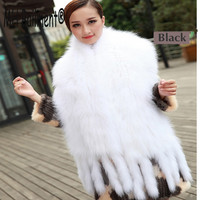 2017New Arrived Real Fox Fur Scarves Winter Women Warm Decoration Fashion Style Cardigan Shawl Women Natural Pashmina Scarf S#24