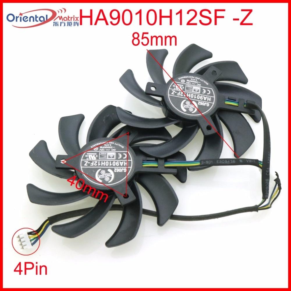 Free Shipping HA9010H12SF-Z 12V 0.57A 85mm 40*40*40mm 4Wire 4Pin For Dataland Graphics Card Cooling Fan qqv6 aluminum alloy 11 blade cooling fan for graphics card silver 12cm