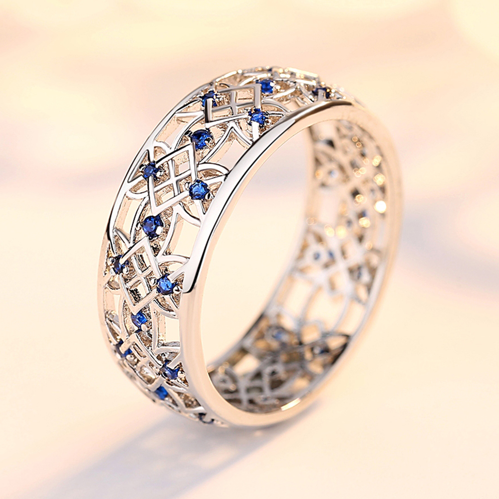 Cute Two-Tone Engagement Ring for Women