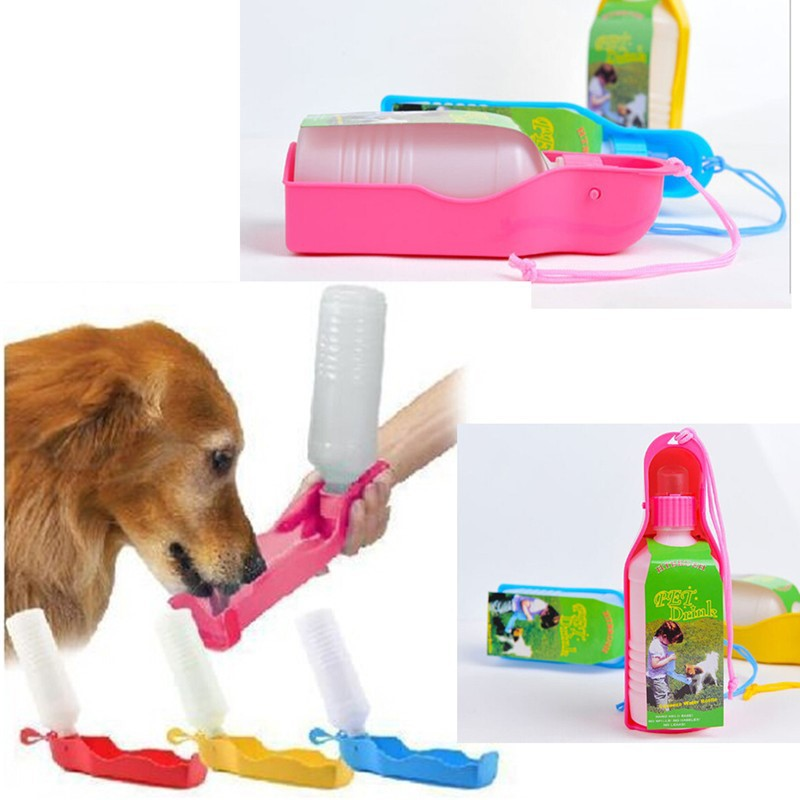 Aliexpress Com Buy Pet Portable Water Bottle 250ml Dog: 250ML Outdoor Portable Pet Dog Water Bottles Foldable Tank