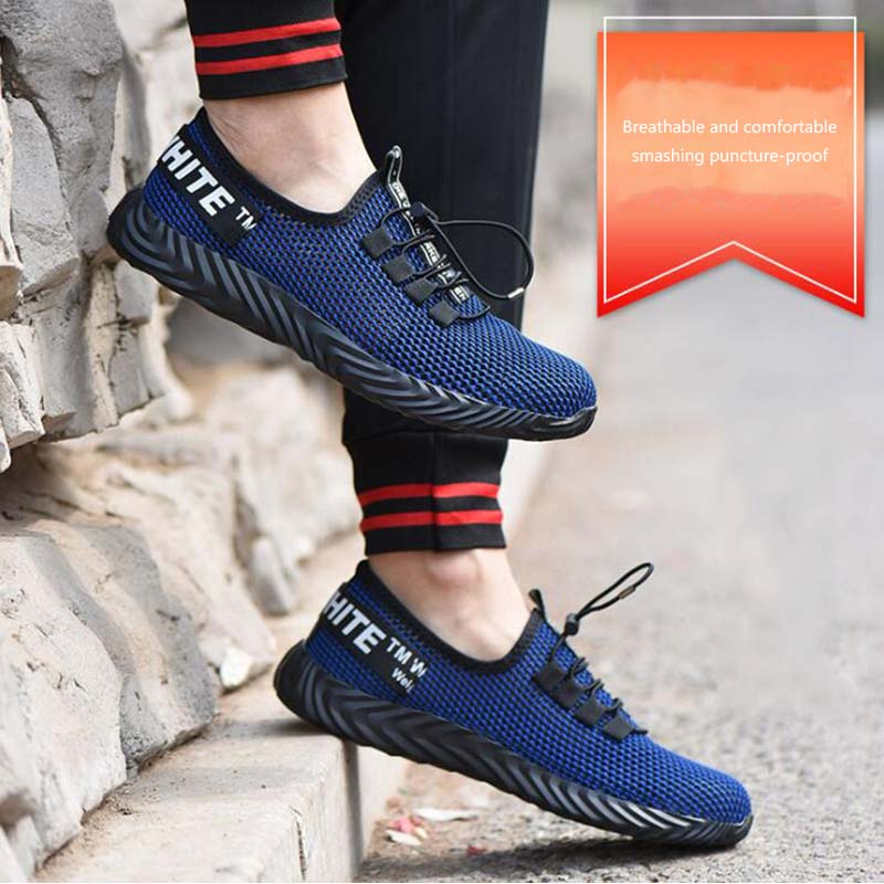 Men 39 s Steel Toe Work Safety Shoes Breathable Outdoor Indestructible Sneakers Puncture Proof Boots Comfortable Industrial Shoes in Work amp Safety Boots from Shoes