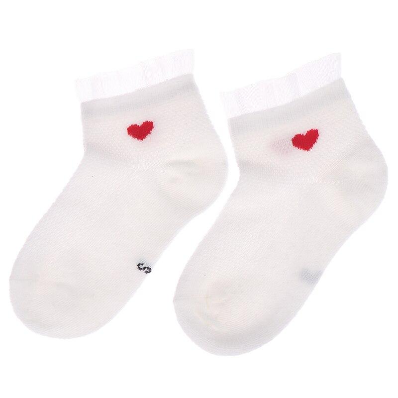 Cute lace flower mesh baby spring summer socks cotton baby socks anti slip socks(China)