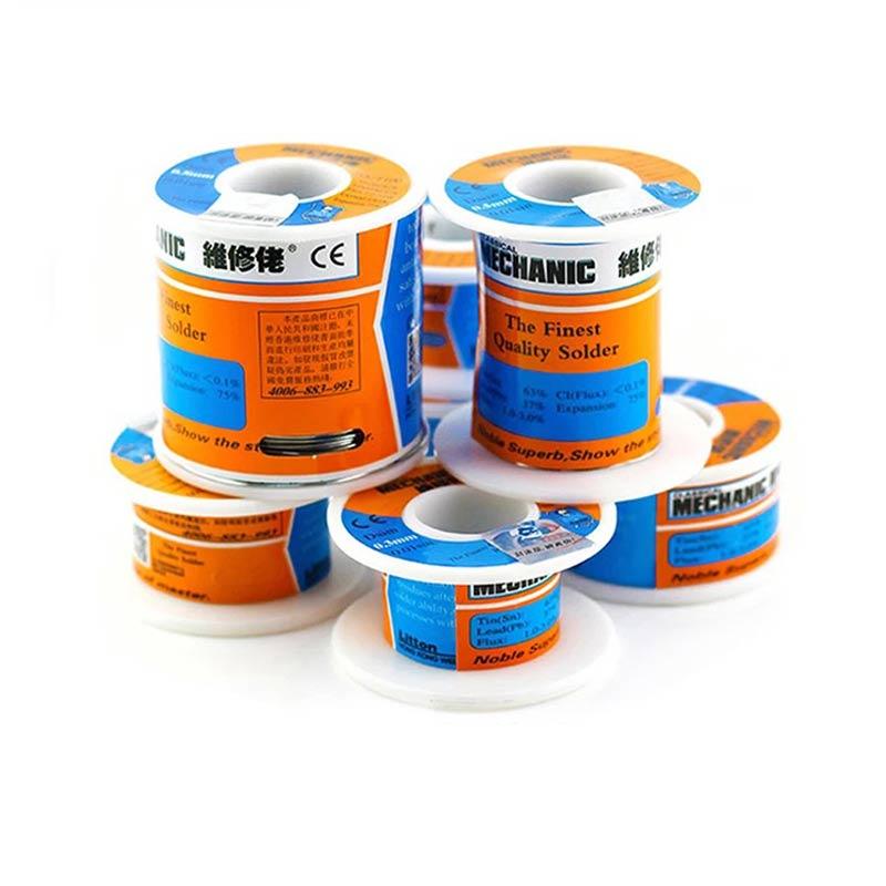 Original 2pcs/lot 55g/150g HK Mechanic Rosin Core Solder Wire 0.3/0.4/0.5/0.6/0.8/1.0/1.2 Low Melting Point Soldering BGA Tools