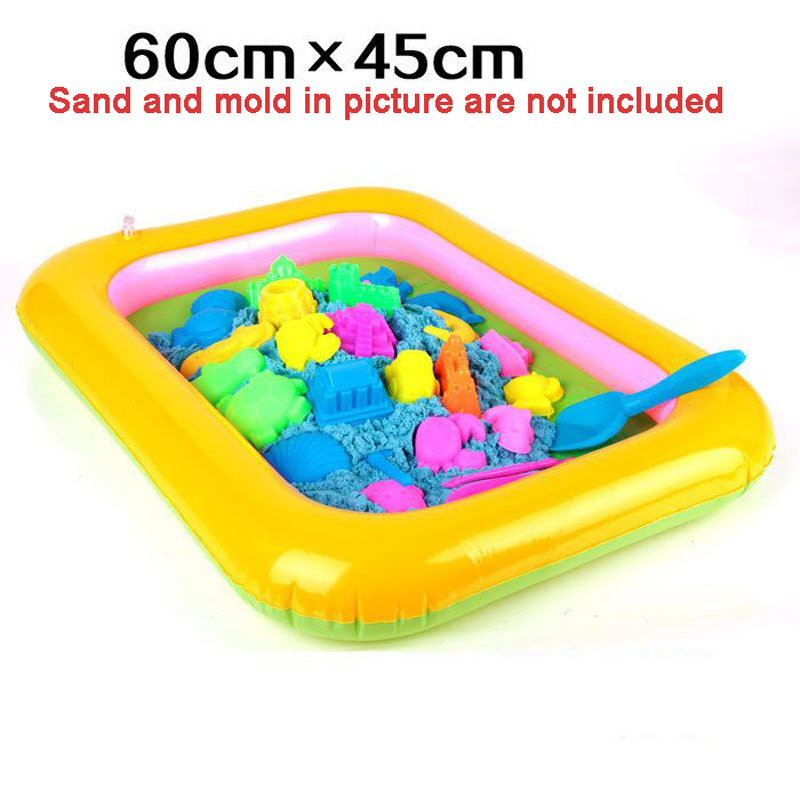 Indoor Magic Play Sand Children Toys Mars Space Inflatable Sand Tray Pool Accessories Plastic Mobile Table