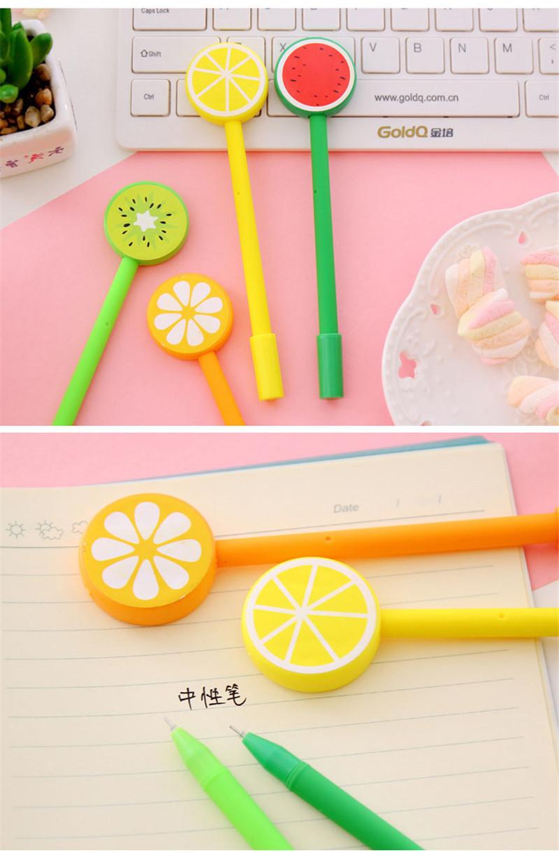 Detail Feedback Questions about Korean Cartoon Cute Fruit Gel Pen ... c49c0442c10a