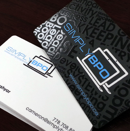 custom business card printing 300gsm coated paper raised clear ink name card Spot UV business card visit card printing