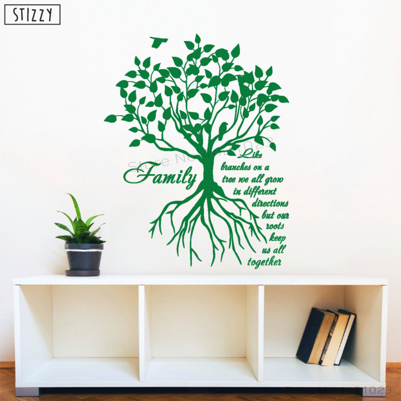 Stizzy Wall Decal Creative Quotes Family Like Branches On A Tree