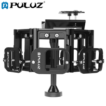 PULUZ Protective Case Set For GoPro 8 in 1 All View Panorama Frame CNC Aluminum Alloy Cage+Screw