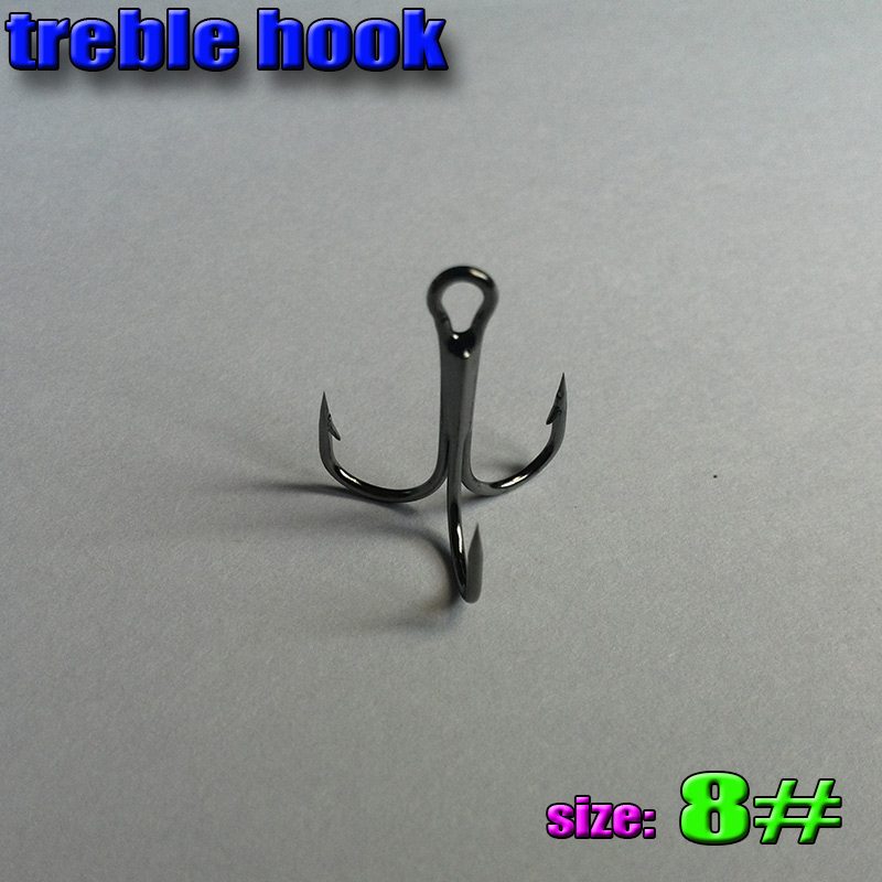 2015NEW treble hooks size:8# Smoothing high strength quantily 3best steel fishing - Shall We Go Fishing store