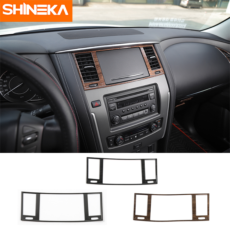 SHINEKA Car Styling Dashboard Panel AC Air Condition Vent Outlet Cover Trim Frame for Nissan Patrol Y62 2017 Car Accessories-in Interior Mouldings from Automobiles & Motorcycles    1