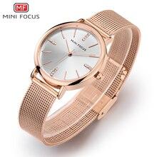 Купить с кэшбэком MINI FOCUS Fashion Quartz Watch Women Watches Ladies Girls Famous Brand Wrist Watch Female Clock Montre Femme Relogio MF0036L
