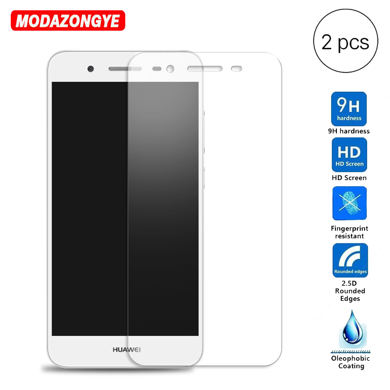 Galleria fotografica 2pcs Tempered Glass For Huawei GR3 Screen Protector Film 9H Tempered Glass For Huawei GR3 TAG-L21 TAG-L13 TAG-L23 TAG L21 GR 3