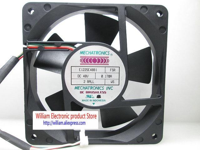 Ventilateur de refroidissement dorigine FONSONING E1225E48B1 FSR A1225E48B1 FS 48 V 0.170A 120*120*25 MM 3 lignes
