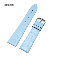 Купить с кэшбэком new Genuine ture Leather Watch band Straps 14mm 16mm 18mm 20mm 22m women men watchband 22mm Strap 12mm Watchbands 20mm J30-SK