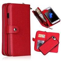 Съемный кожаный кошелек с молнией чехол для samsung Galaxy S10 S10E S9 S8 S7 S6 Edge Plus S4 Note 9 8 Многофункциональный сумочки с замочком в виде листика