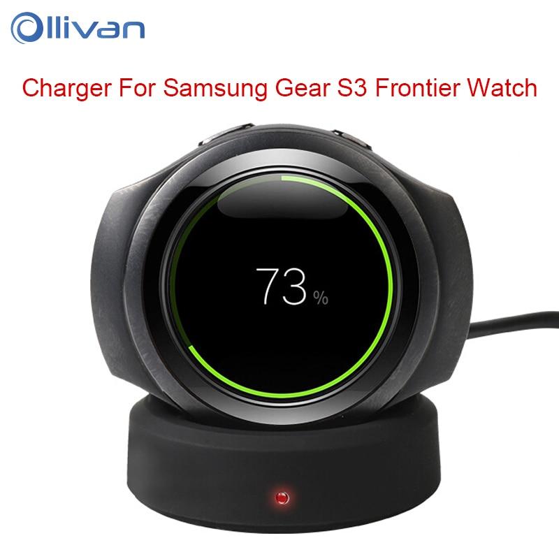 OLLIVAN Wireless Charging Dock For Samsung Gear S3 Classic Frontier Watch Smart Watch Charging Dock Smart Watch Accessorries
