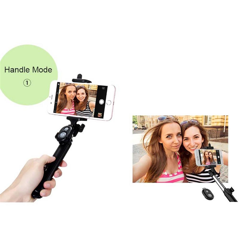 4 In 1 Selfie Stick Mini Tripod Self Stick Bluetooth Remote Shutter Multifunctional Handheld Extendable Monopod For iPhone 7 in Selfie Sticks from Consumer Electronics