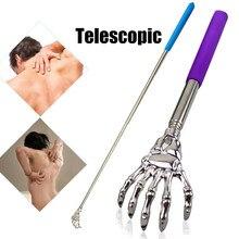 Aço inoxidável telescópico garra massageador para massagem traseira promoção ferramentas para circulação sanguínea relaxar saúde volta scratcher ferramenta