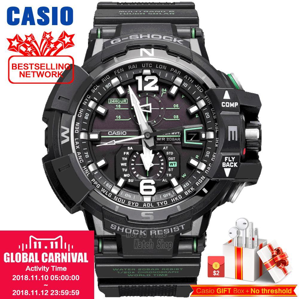 Casio Watch Triple perception of fashionable solar sports men's watches GW-A1100FC-1A GW-A1100-1A3 casio gst w130bc 1a3