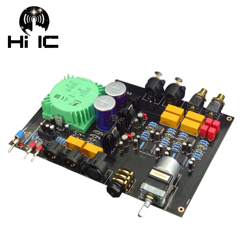 Bright Full Balanced Input Full Balanced Output Headphone Amplifier Amp Low Distortion