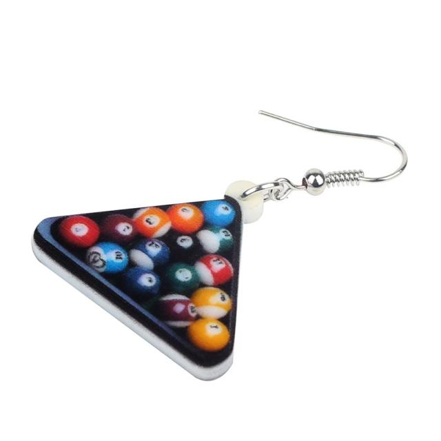 Colorful Billiard Earrings 1