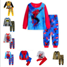 Boys Pajamas Set Cartoon kids Sleepwear Girls cute Home pajamas Children Bear pattern cotton pyjamas size 2-7Y