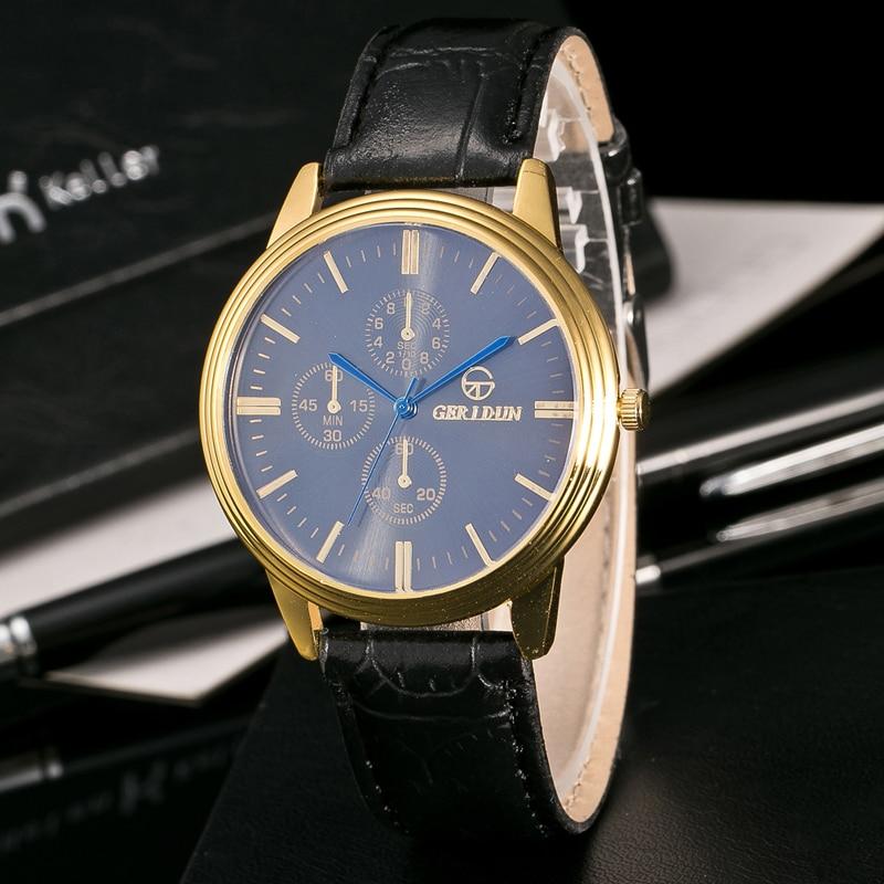 Bestverkopende Militaire Horloges Herenmode Gestreept Leer Kwarts - Herenhorloges - Foto 6