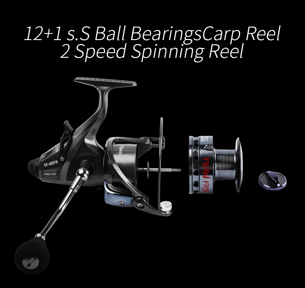 New Design Double Speed 6.314.31 LeftRight Exchangeable Spin Fishing Reel 12+1 S.S Bearings Spinning Reel With 2 Spools Coil  (4)