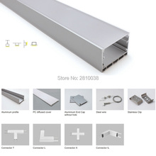 10 X 1M Sets/Lot U Shape led aluminium profile and super wide led profile aluminum for suspending or pendant lights