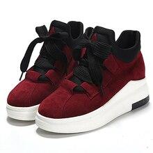 Nouveau mode femmes casual chaussures sanglaide à lacets épais talon haut chaussures femme chaussures de marche noir plate-forme sport chaussures