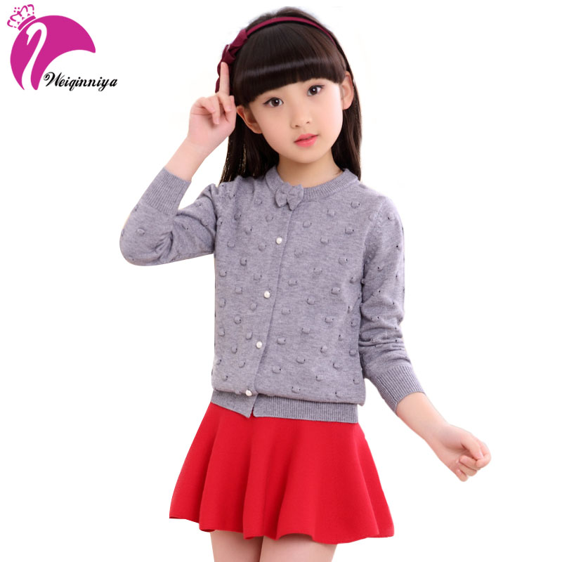 Girls Sweaters Long Sleeve O-neck Knitted Sweaters For Girls Children Clothing Autumn Winter Outerwear Teenagers Knitwear