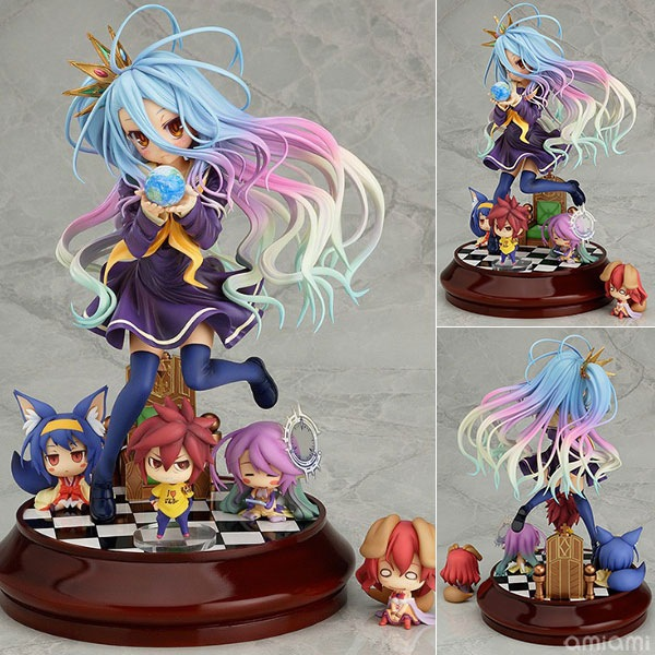 20cm Anime Life No Game No Life Shiro Game of Life Painted second generation Game of Life 1/7 scale PVC action figure model