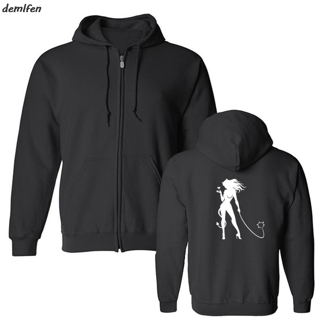 Sexy Devil Girl Classic Fashion Casual Hoodie Men fashion Hoody Print Fleece Casual Jacket Sweatshirts Hip Hop Tops