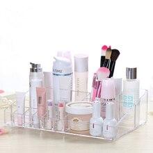 Kristall Acryl Cosmetic Organizer box Kosmetische aufbewahrungsbox für frau Make-Up Display Box Ketten-ohrring-ausstellungsstand-zahnstangen-halter Organizer Wc fall