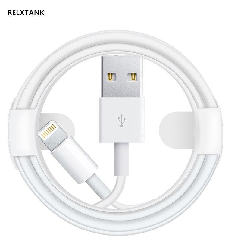 Haute Vitesse D'origine Relxtank Puce Données Câble USB Pour Apple iPhone X XS MAX XR 5 5S SE 6 6S 7 8 Plus ipad mini air 2 Charge Rapide