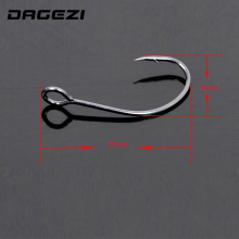 DAGEZI High carbon steel (20Pcs/lot)  Freshwater Carbon Black Bait Holder Baitholder Fishhook Fishing Hooks Set