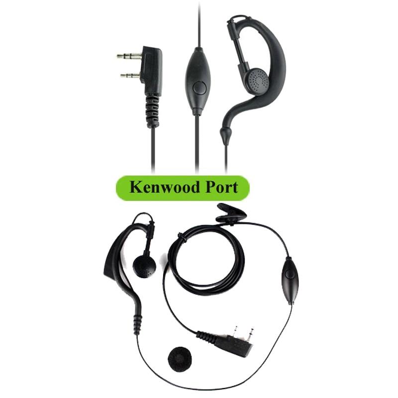 1x G-Shape Earpiece Headset PTT MIC For Kenwood RETEVIS BaoFeng UV5R H777 888s B