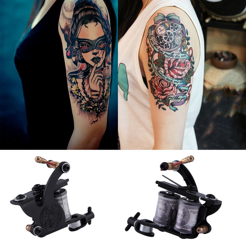 Complete Tattoo Kit Set Equipment Machine Power Supply gun Color Inks  NO1 complete tattoo kit 2 machine gun 20 color inks power supply d175gd