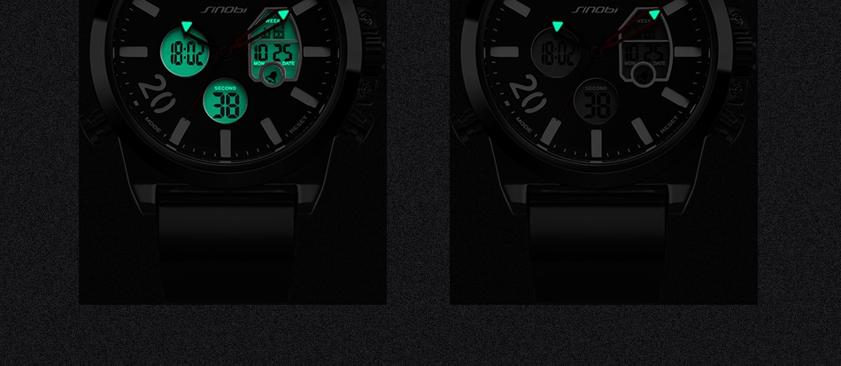 HTB15SFWc2iSBuNkSnhJq6zDcpXax SINOBI 2020 Men Wrist Watches LED Chronograph