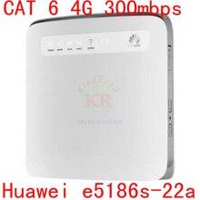 Unlocked cat6 300 Mbps Huawei e5186 E5186s-22 4g LTE kablosuz router 4g wifi dongle Mobil hotspot 4g 3g cpe araba pk E5172 b890