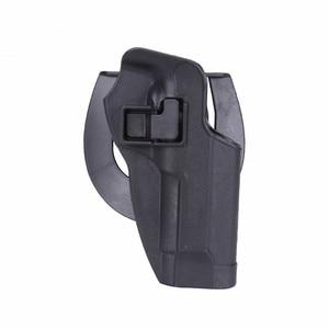 Image 4 - 2017 New Arrival CQC M92 1set pistol gun Holster Polymer ABS Plastic waist belt gun holster fit Airsoft right hand