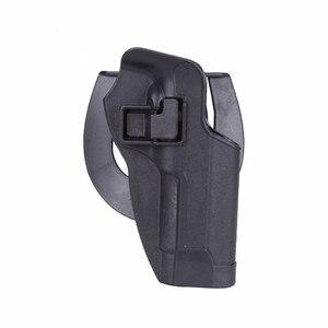 Image 4 - 2017 neue Ankunft CQC M92 1 set pistole pistole Holster Polymer ABS Kunststoff taille gürtel pistole holster fit Airsoft rechts hand