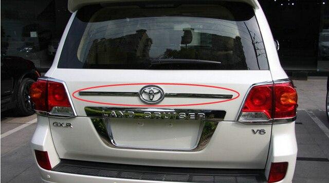 Auto rear trunk trim, tail door sticker for toyota Land cruiser FJ200, abs chrome,auto accessories