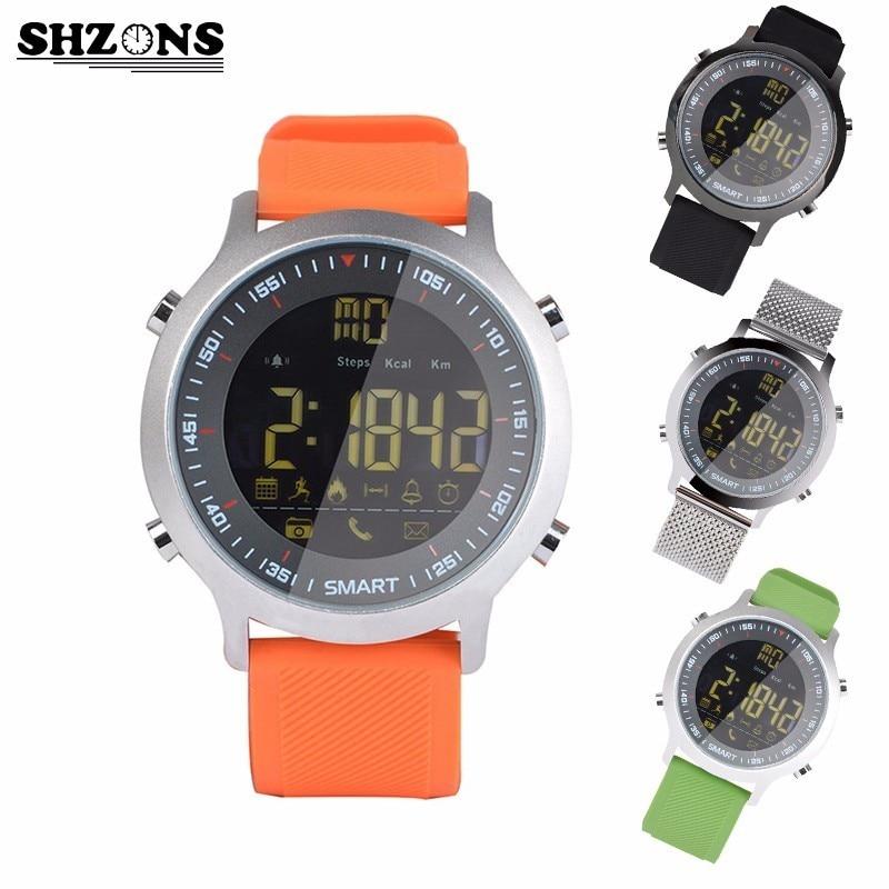 SHZONS EX18 Diving 50M Waterproof Smart Watch Pedometer Clock Fitness Bluetooth Phone Message Push Sports Healthy SmartWatch