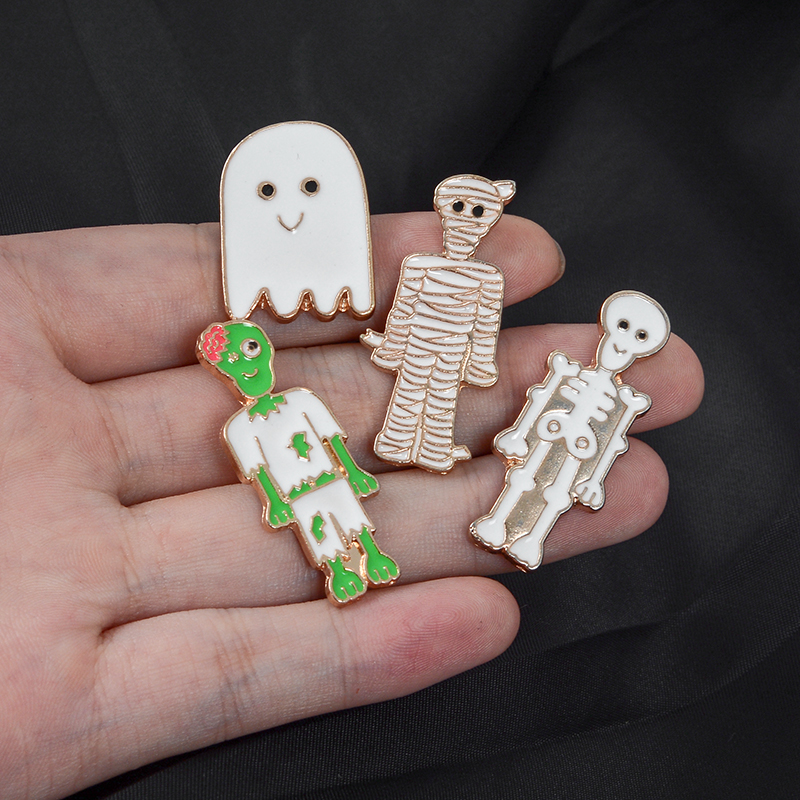 Happy-Halloween-Day-of-the-Dead-Cartoon-Cute-Zombie-Family-Skeleton-Skull-Bandage-Mummy-Ghost-Specter(5)